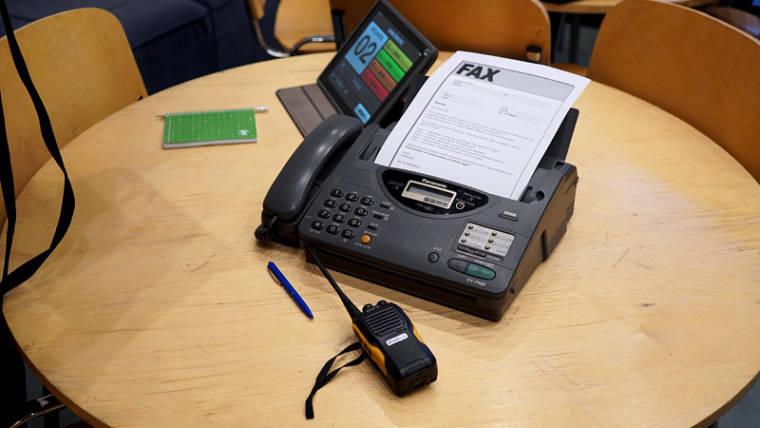 Meeskonnatreening faks peakontorist